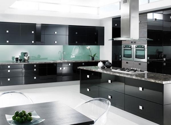 Black Modern Kitchen photo - 1