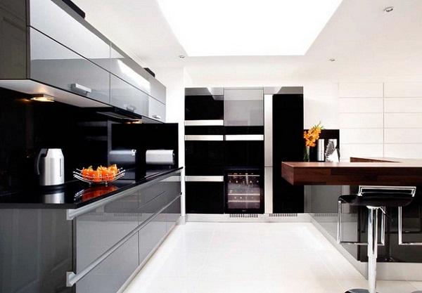Black Modern Kitchen photo - 2