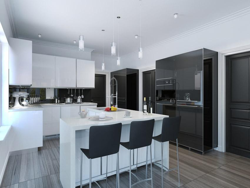 Black Modern Kitchen photo - 5