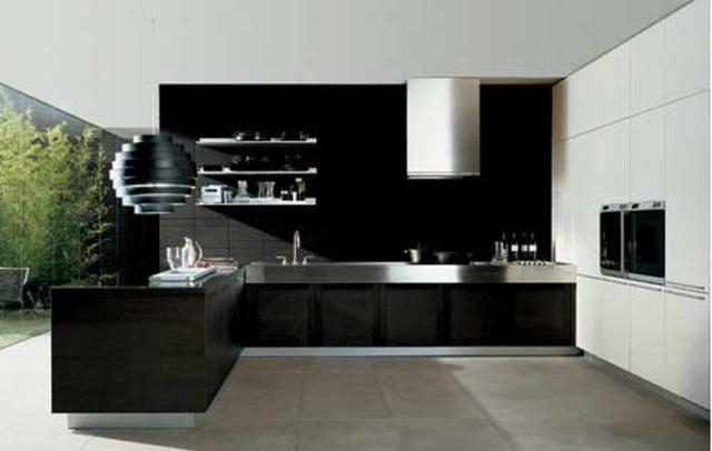 Black Modern Kitchen Interior Design photo - 2