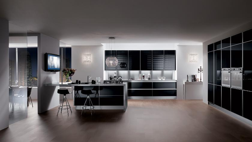 Black Modern Kitchen Interior Design photo - 3