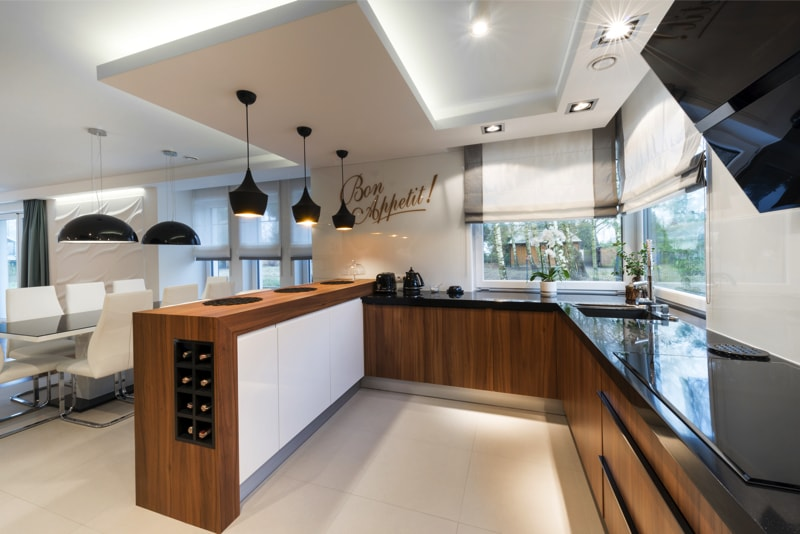 Black Modern Kitchen Interior Design photo - 4