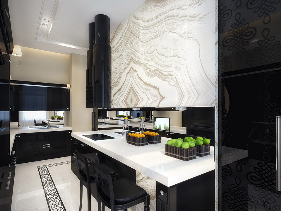 Black Modern Kitchen Interior Design photo - 5
