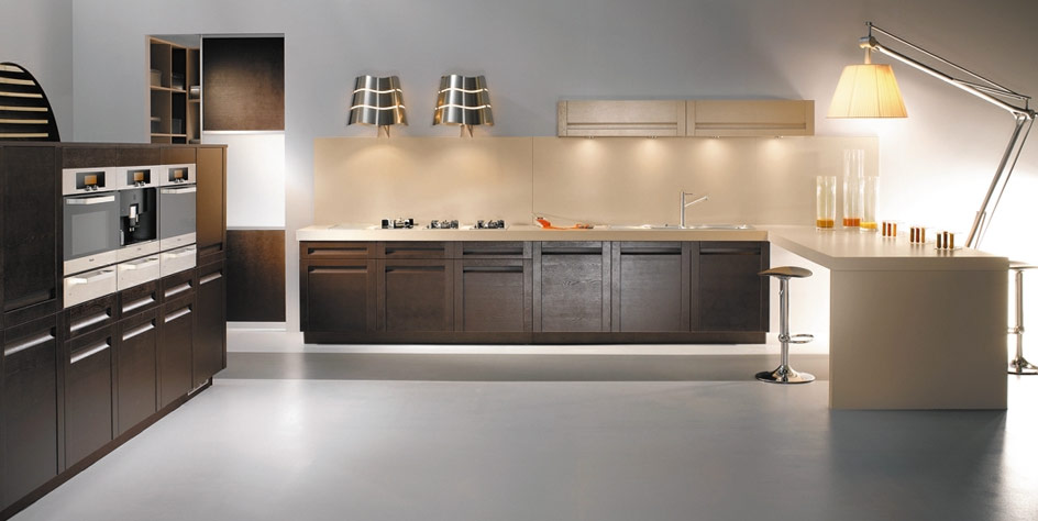 Black Modern Kitchen Interior Design photo - 6