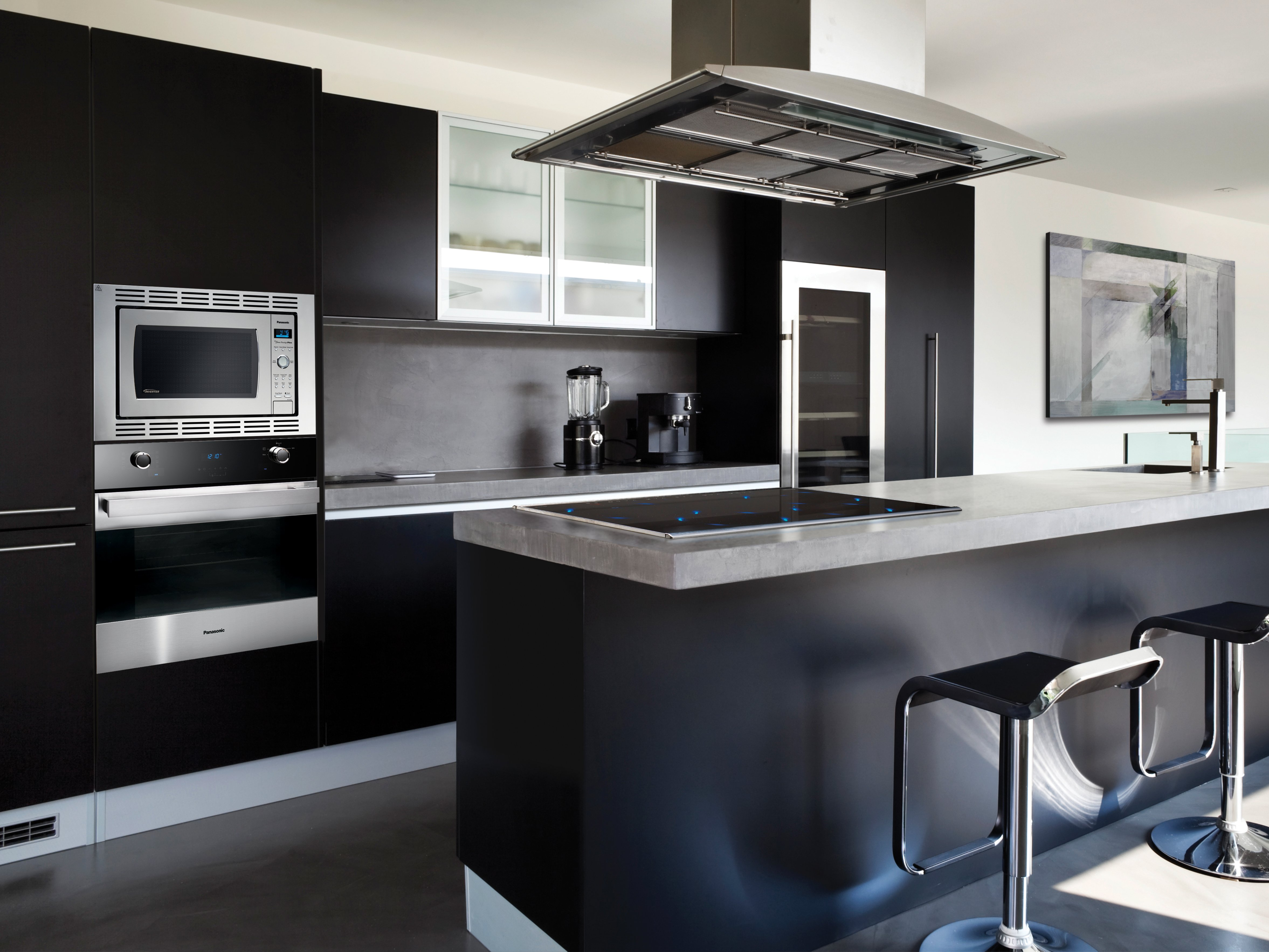Black Modern Kitchen Interior Design photo - 7
