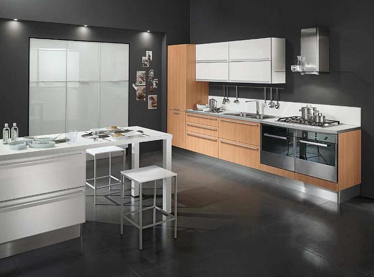 Black Modern Kitchen Interior Design photo - 8