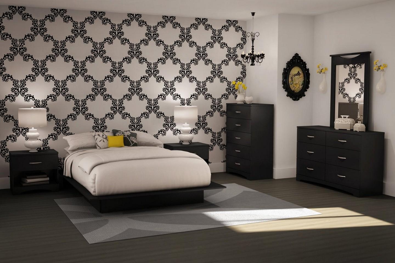 Black Wallpaper Room Designs photo - 4