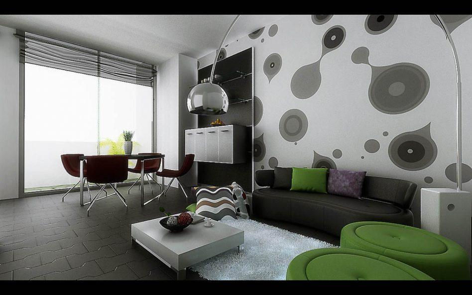 Black Wallpaper Room Designs photo - 7