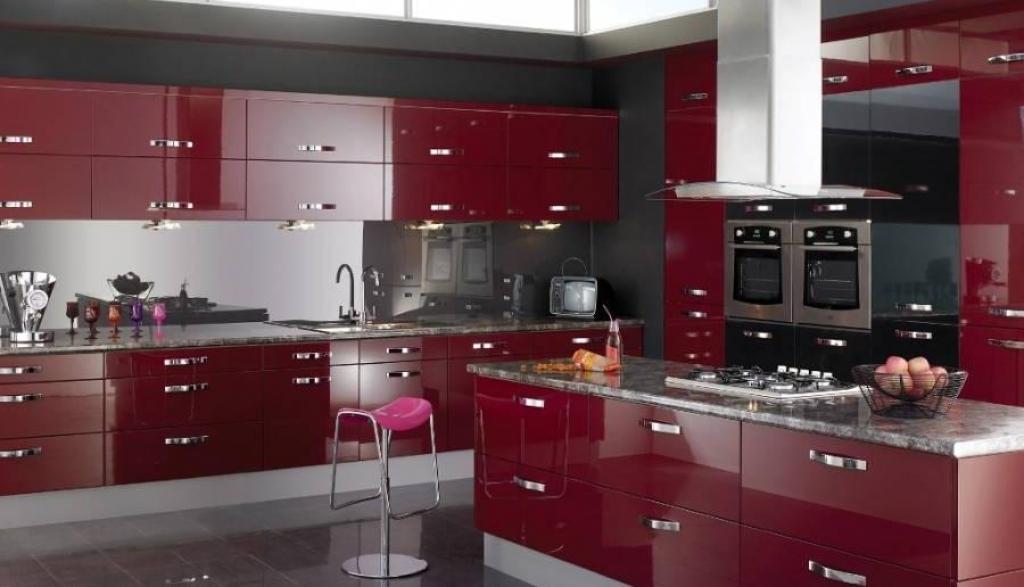 Black and Red Modern Kitchen photo - 10