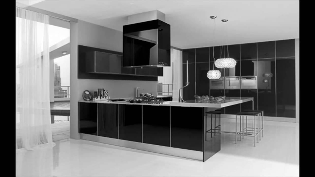 Black and White Kitchen Interior photo - 10
