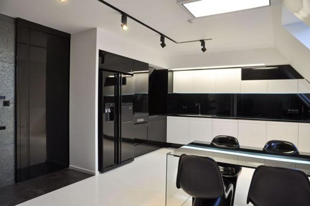Black and White Kitchen Interior photo - 3