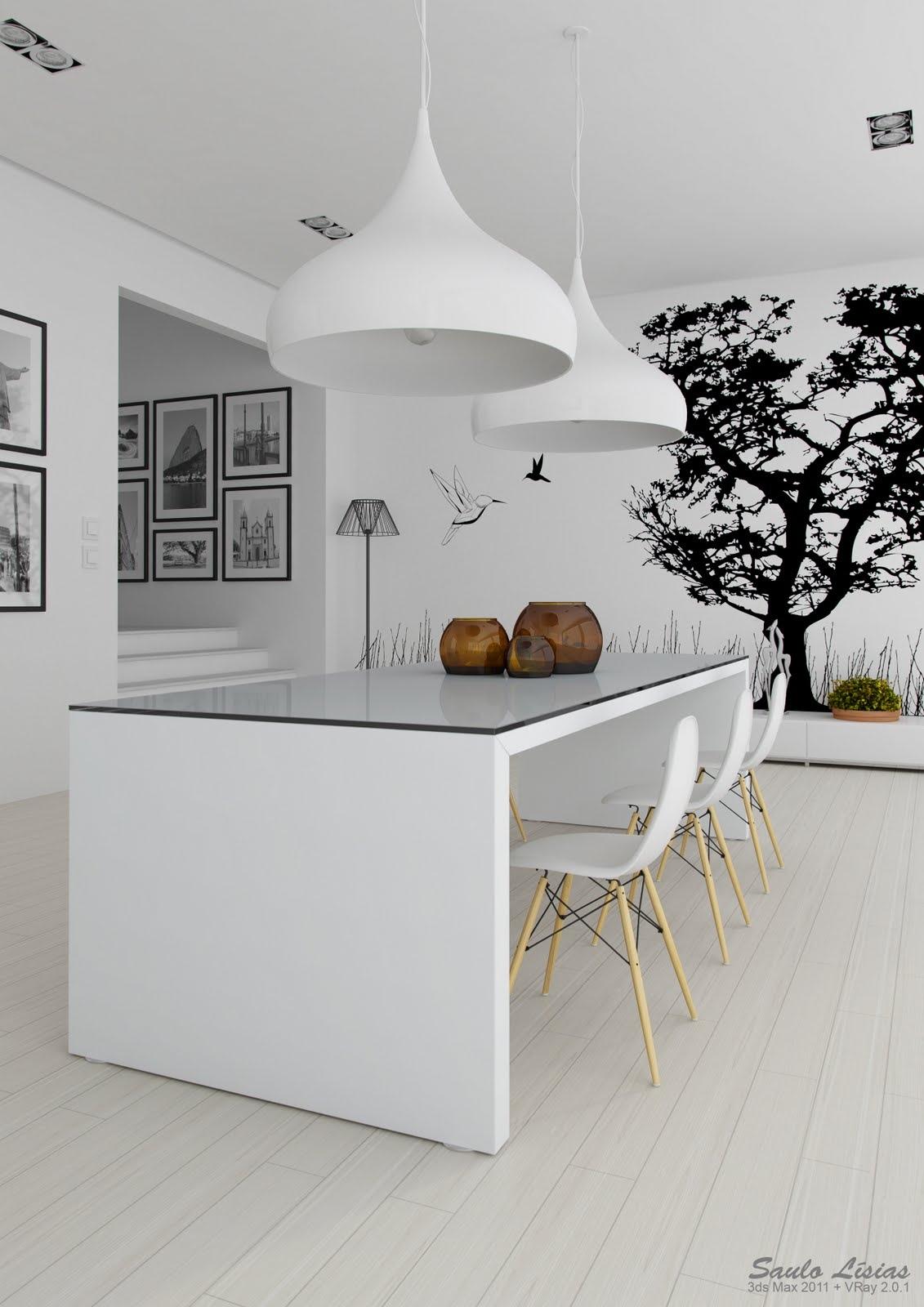 Black and White Kitchen Interior photo - 5