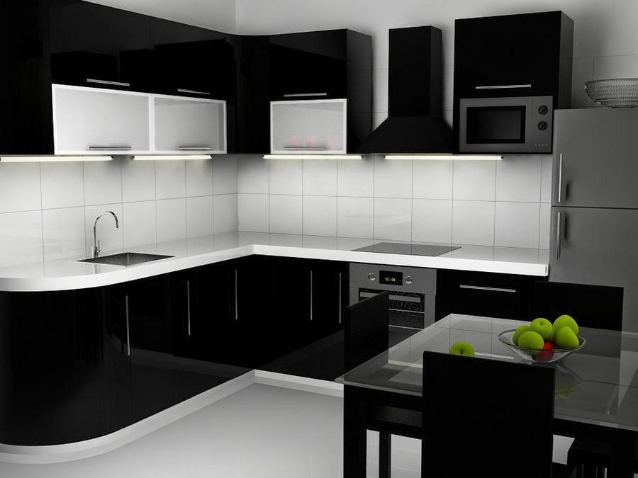 Black and White Kitchen Interior photo - 6