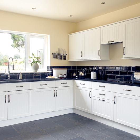Black and White Kitchen Interior photo - 8