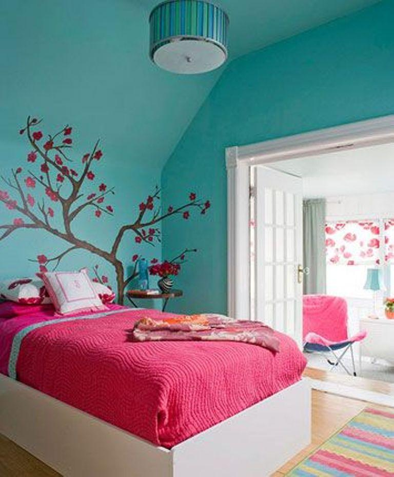 Blue and Pink Bedroom photo - 1