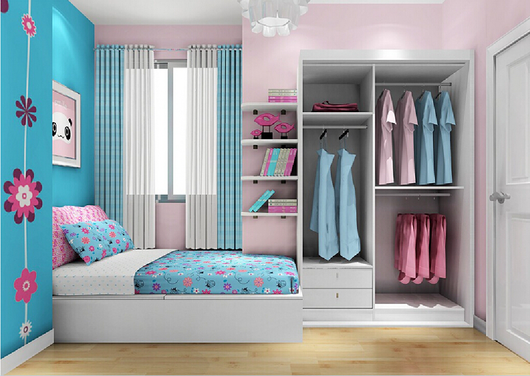 Blue and Pink Bedroom photo - 3