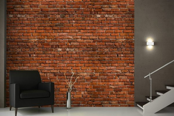 Brick Wallpaper Interior Design photo - 1