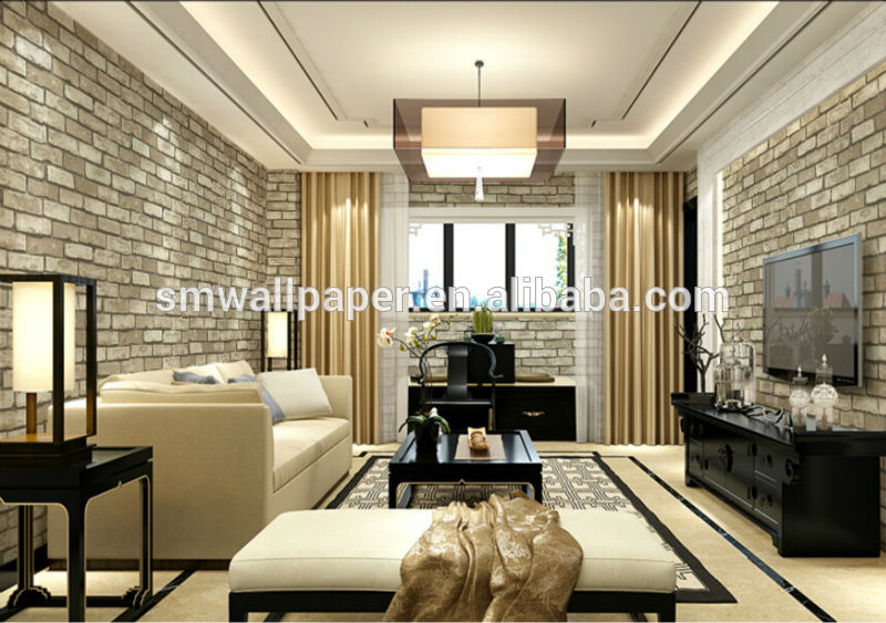 Brick Wallpaper Interior Design photo - 10