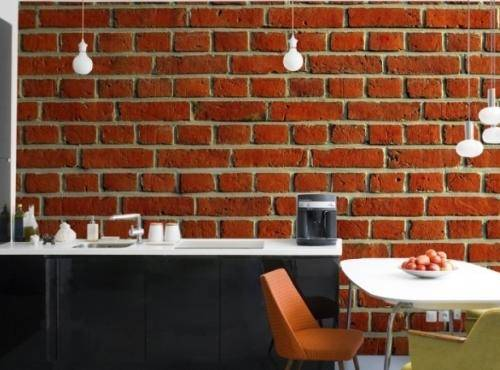 Brick Wallpaper Interior Design photo - 3