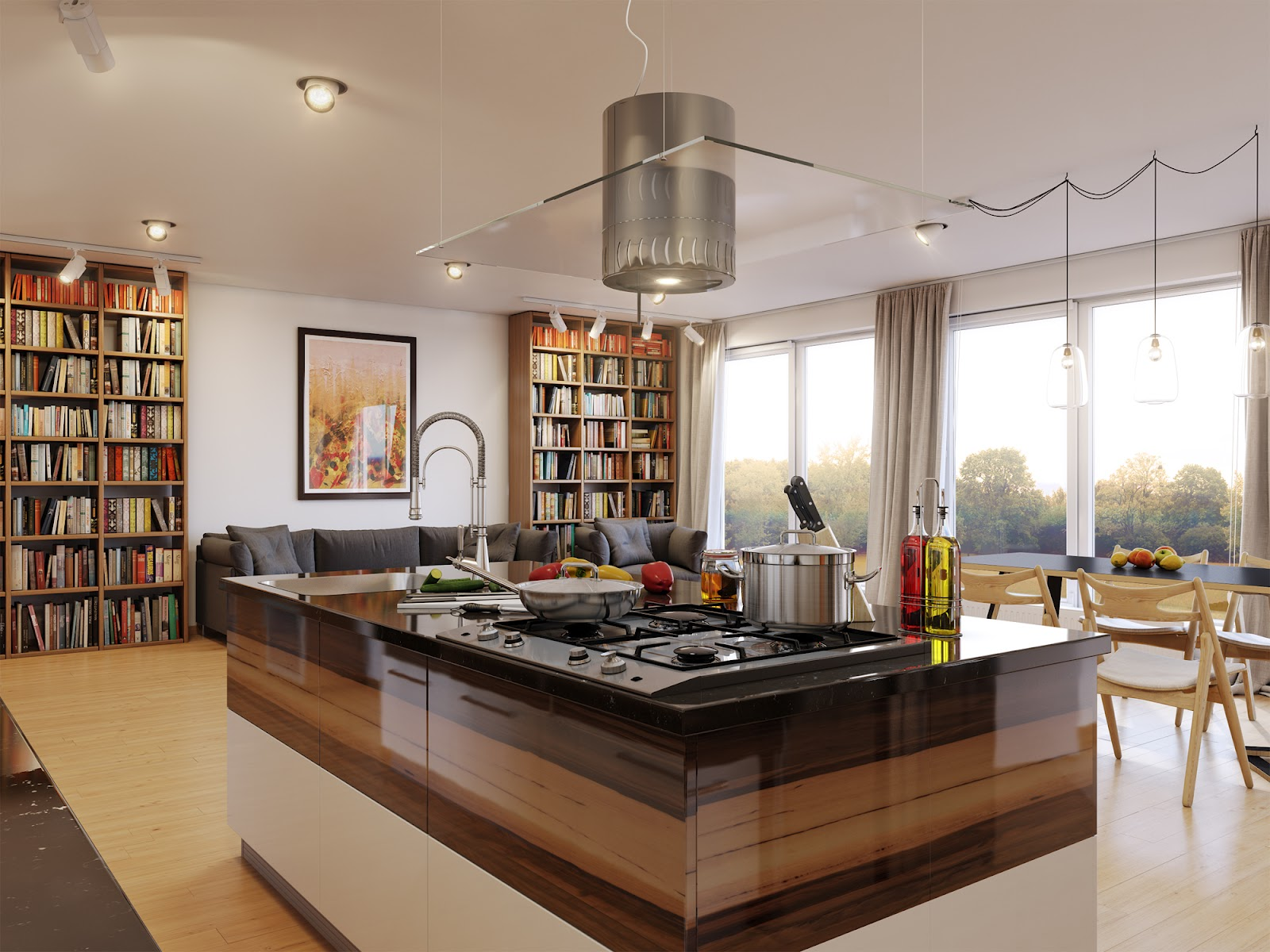 Brown Kitchen Interior Design photo - 3