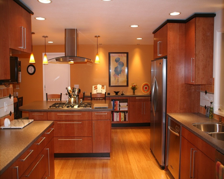 Brown Kitchen Interior Design photo - 9