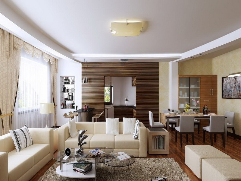 Dining Room on a Living Room Design photo - 10