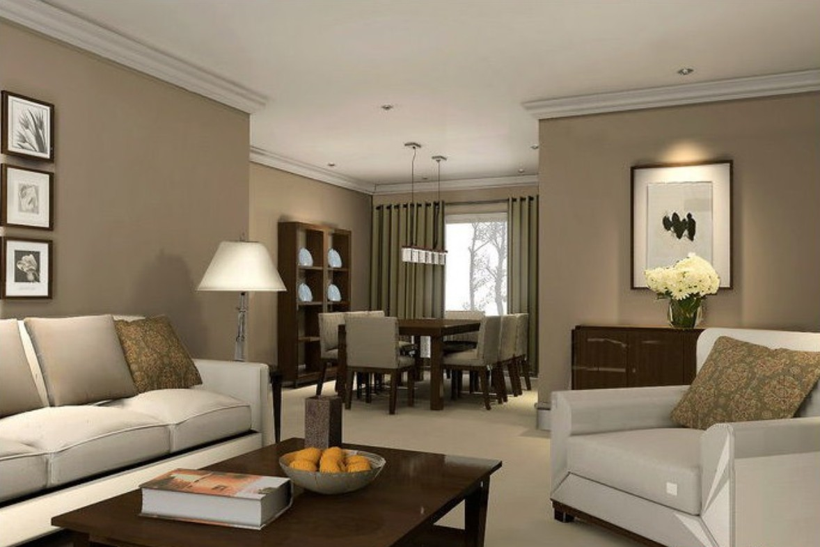 Dining Room on a Living Room Design photo - 6