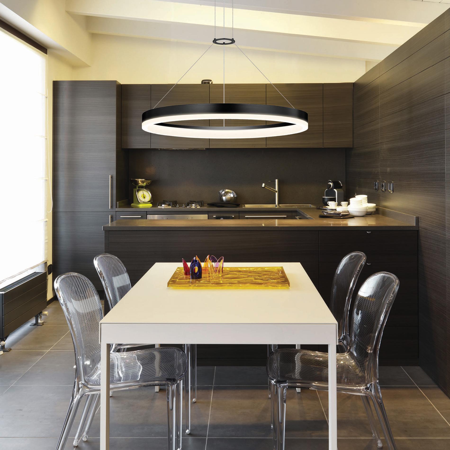 Dining Room With Interior Light Design