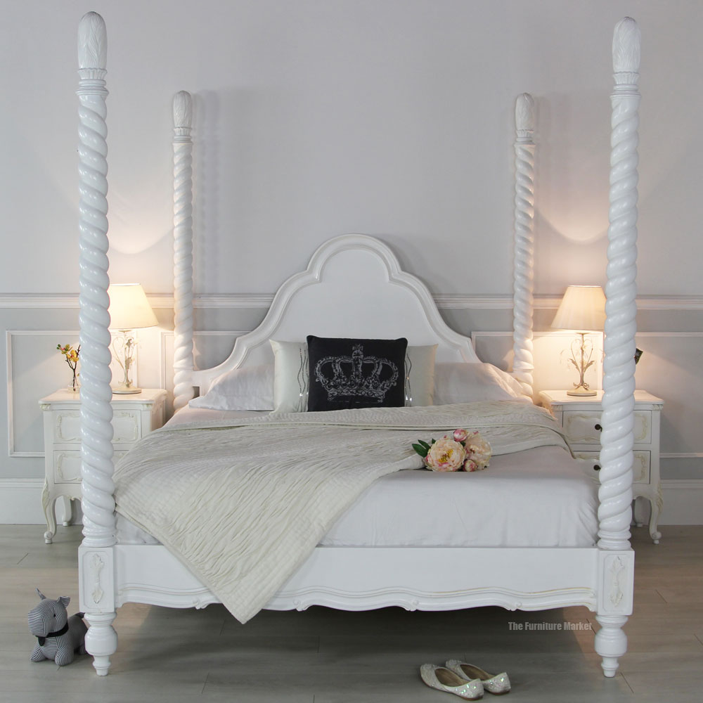 Four Poster Bed White Room Hawk Haven
