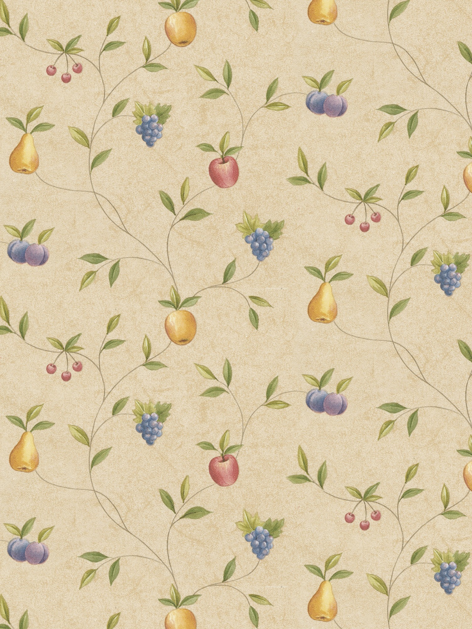 Fruity Wallpaper on an Old-Fashioned Kitchen photo - 2