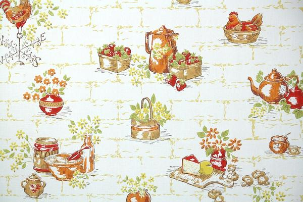 Fruity Wallpaper on an Old-Fashioned Kitchen photo - 8