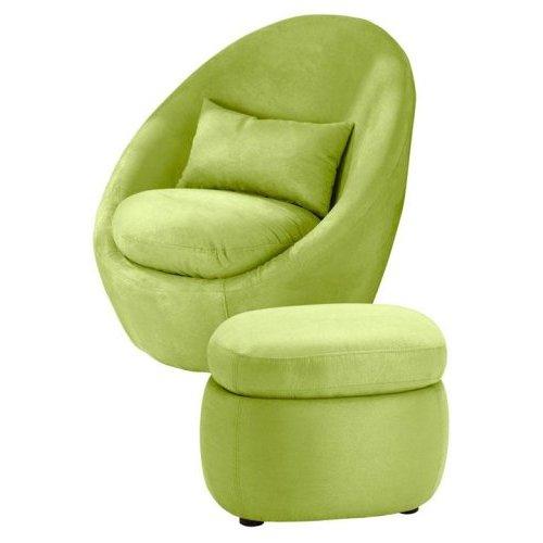 Geometric Green Wallpaper with Rattan Chair photo - 1