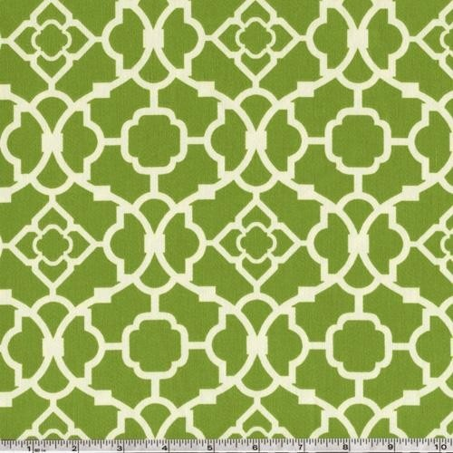 Geometric Green Wallpaper with Rattan Chair photo - 3