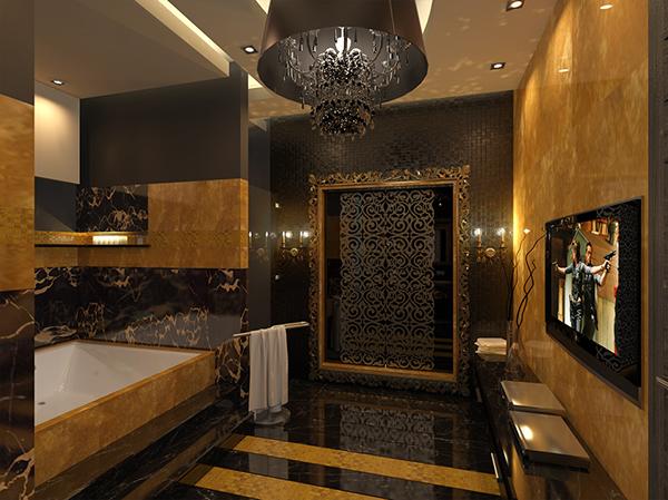 Gold Bathroom Idea photo - 7