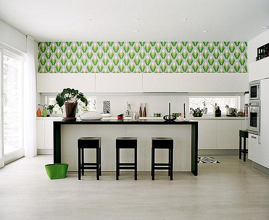 Green Kitchen Wallpaper