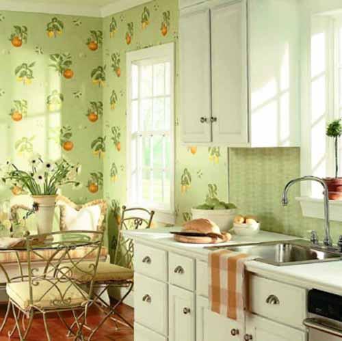 Green Kitchen Wallpaper photo - 4