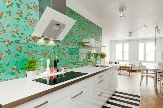 Green Kitchen Wallpaper photo - 8