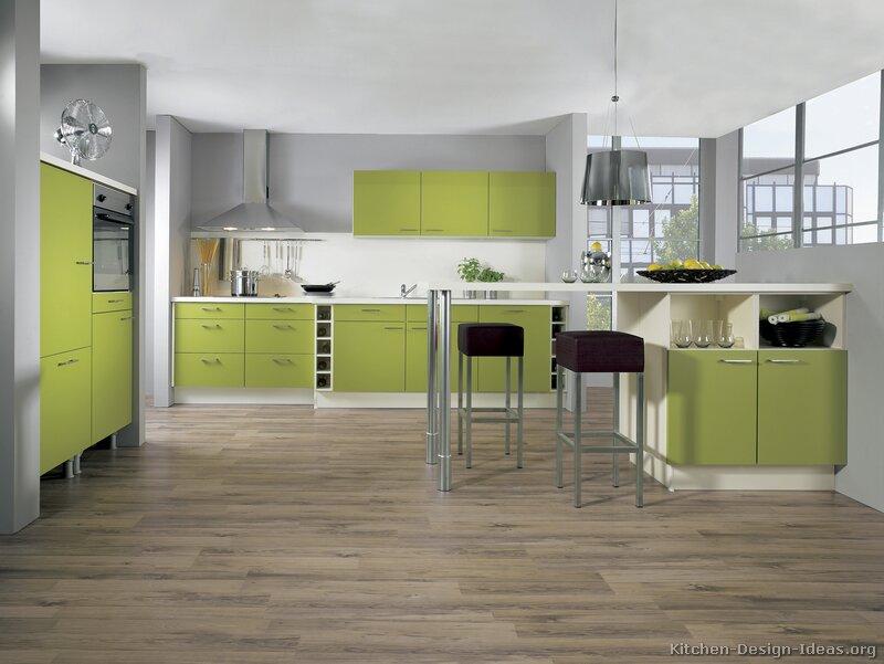 Green Modern Kitchen photo - 1