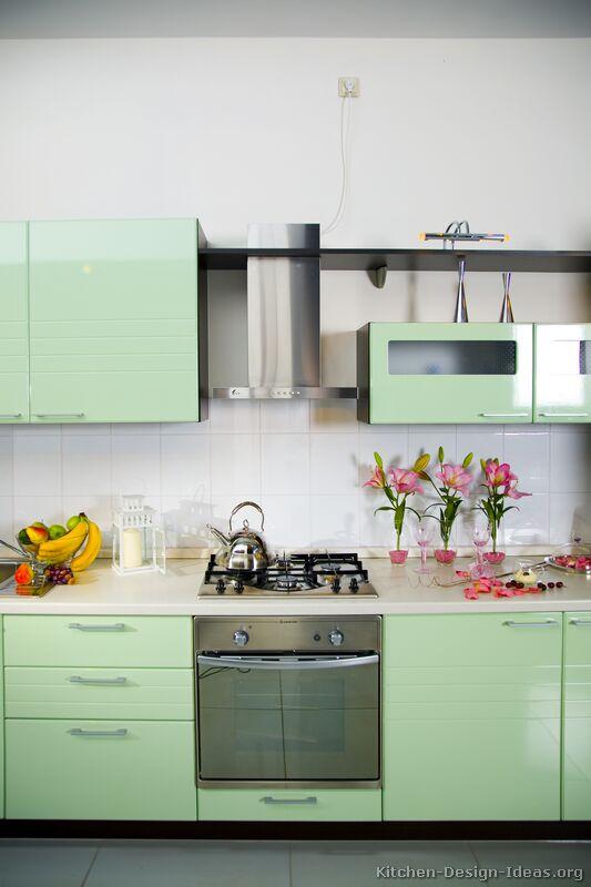 Green Modern Kitchen photo - 2