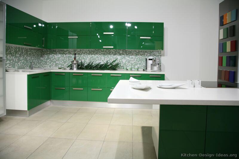 Green Modern Kitchen photo - 4