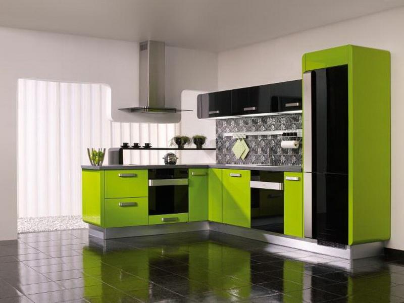 Green Modern Kitchen photo - 7