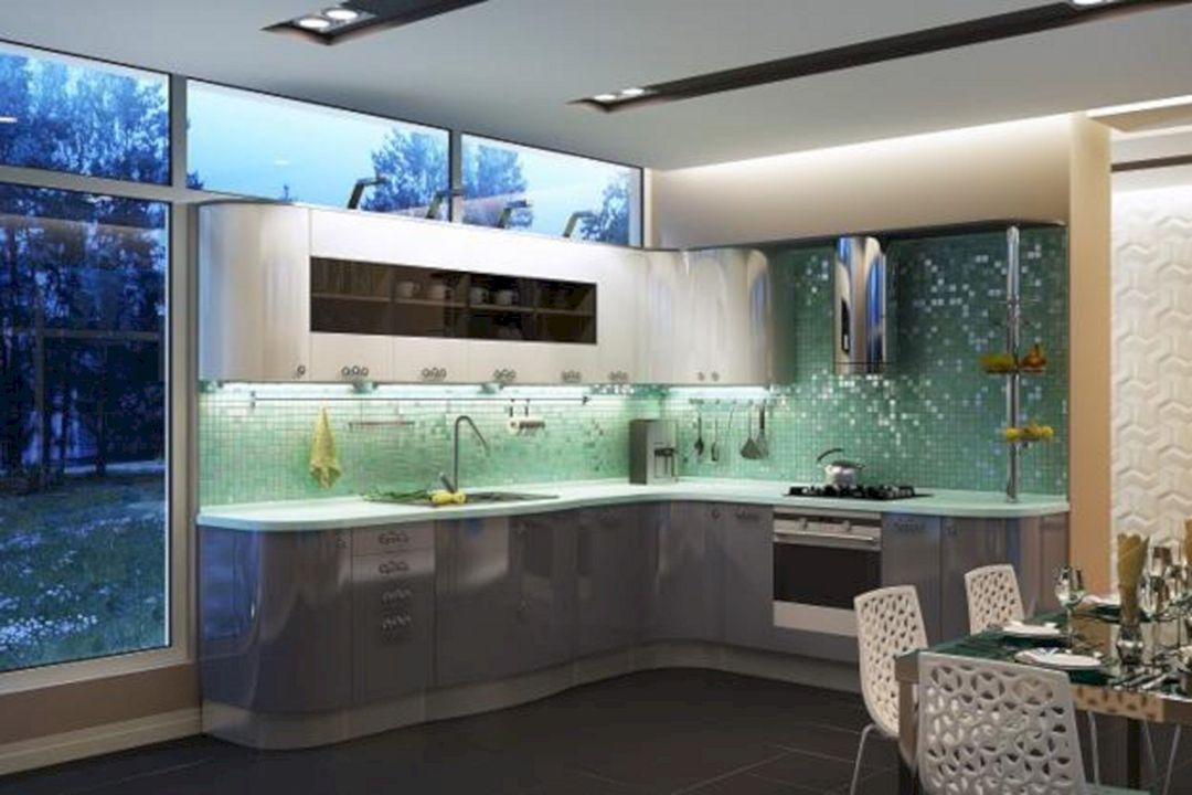 Green Modern Kitchen photo - 8