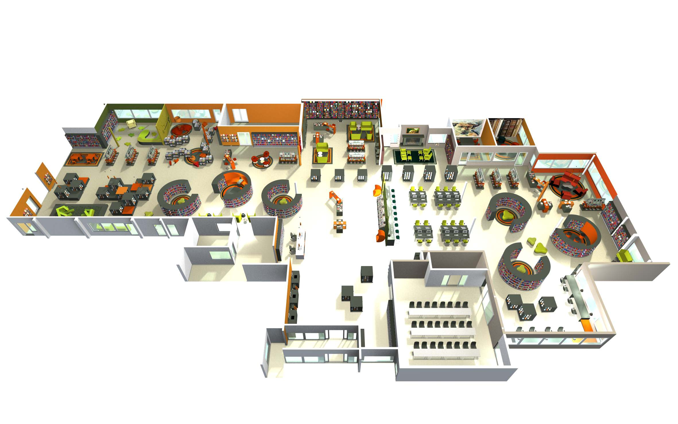 Library Interior Design Planning photo - 5