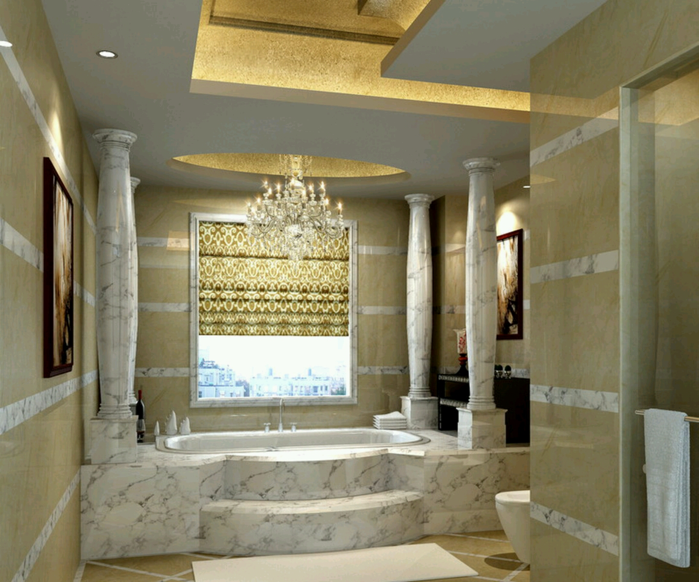 Exceptional Luxurious Bathroom Design Photo   1