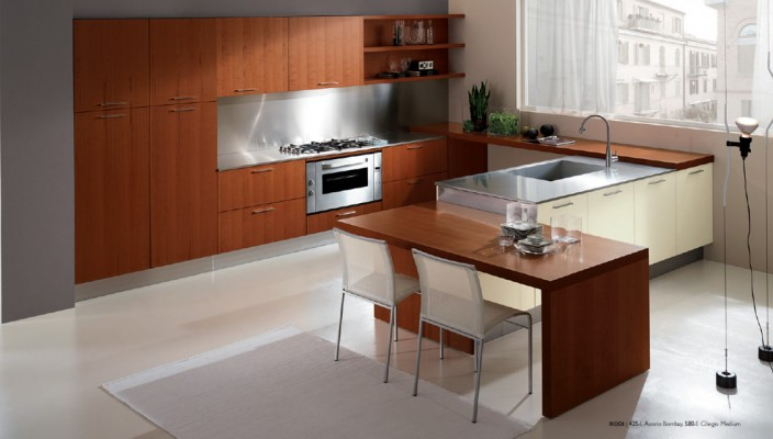 Medium Sized Kitchen Interior Design Concept photo - 3