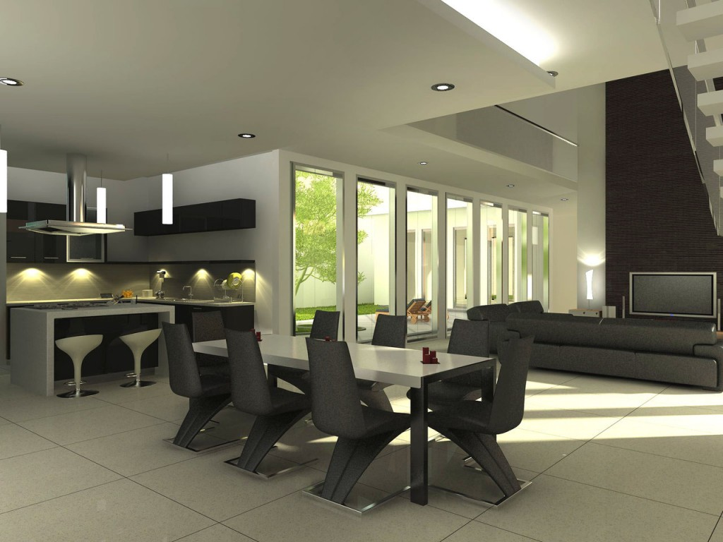 Modern Dining Room photo - 2