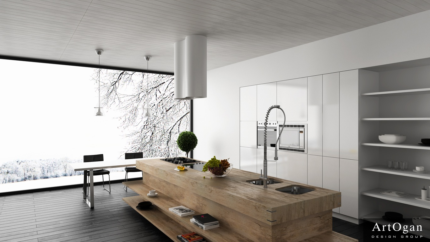 Modern Kitchen in the Woods photo - 8
