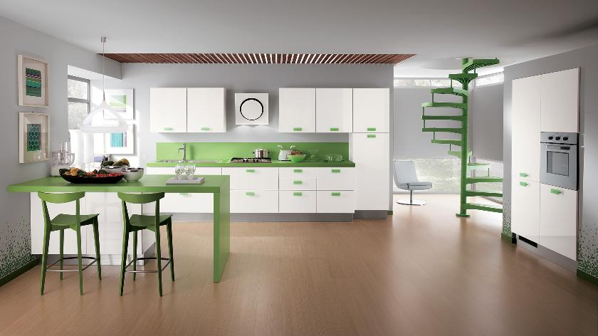 Modern Kitchen with Green Accent photo - 6