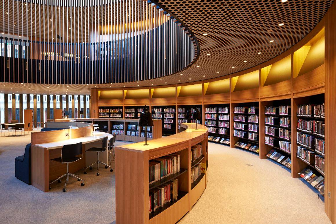 Modern Library Interiors Hawk Haven