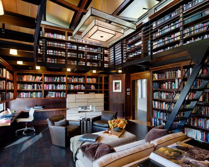 Modern Library Interiors Photo   9